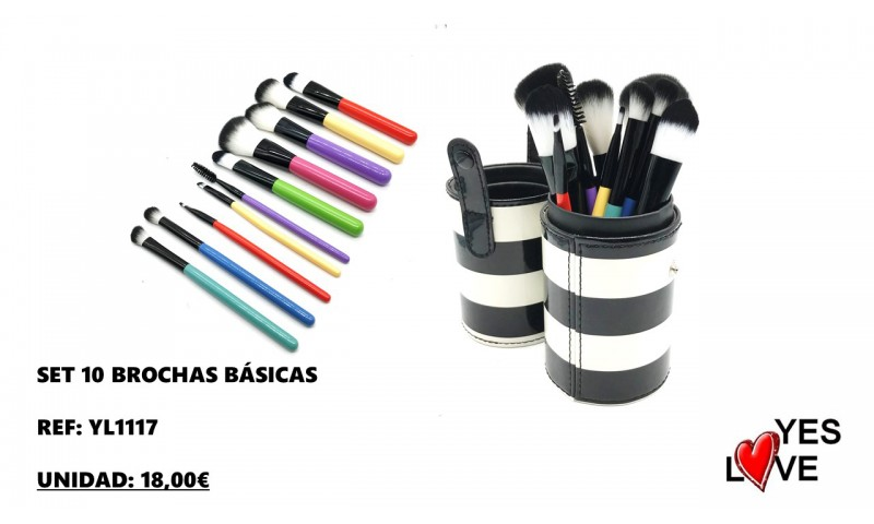 10 BRUSHES SET